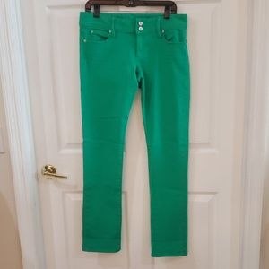 Lilly Pulitzer green Worth straight jean